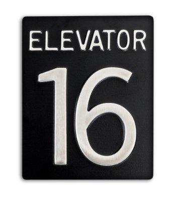 Elevator Identification Signage