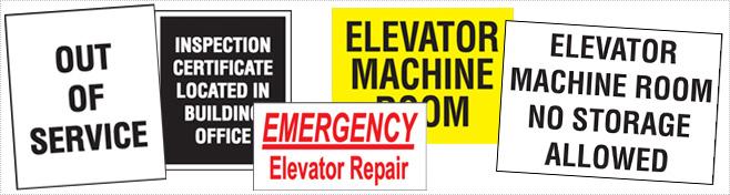 Elevator Maintenance Signage
