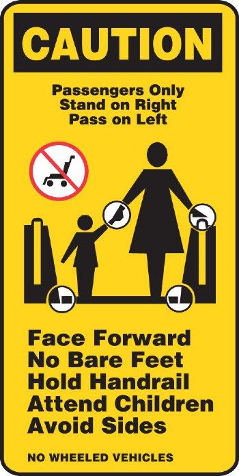 Escalator Signage